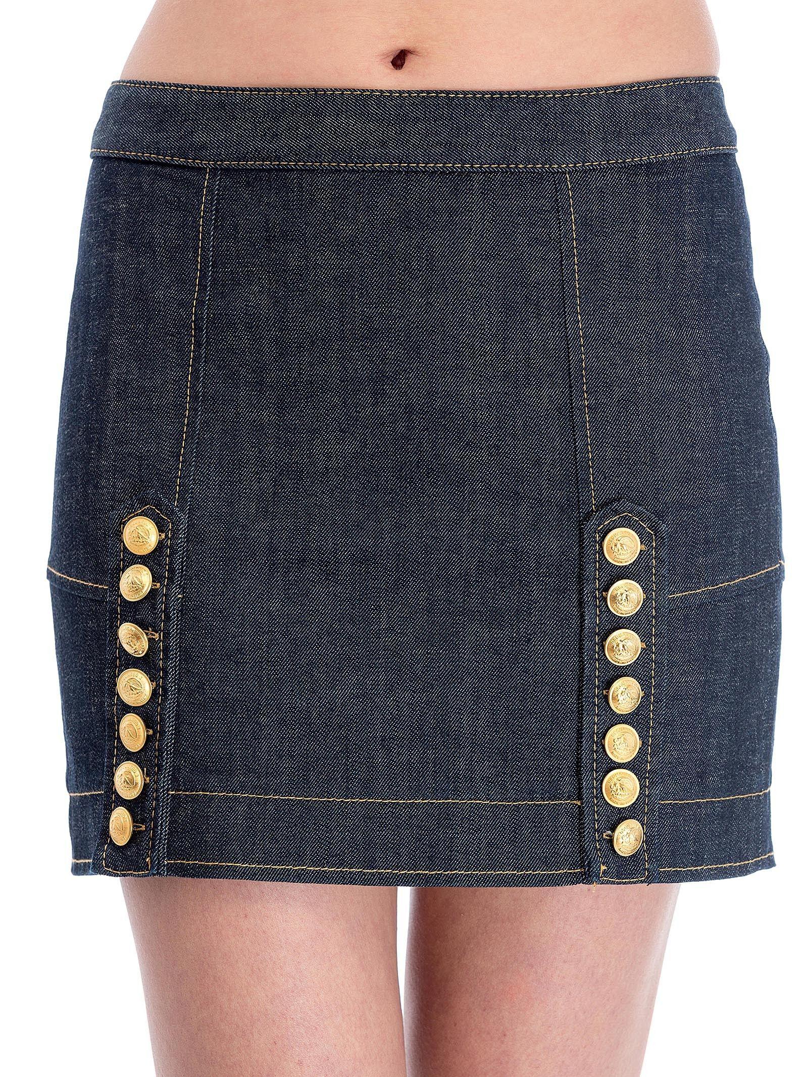 Dsquared Livery Denim Mini Skirt