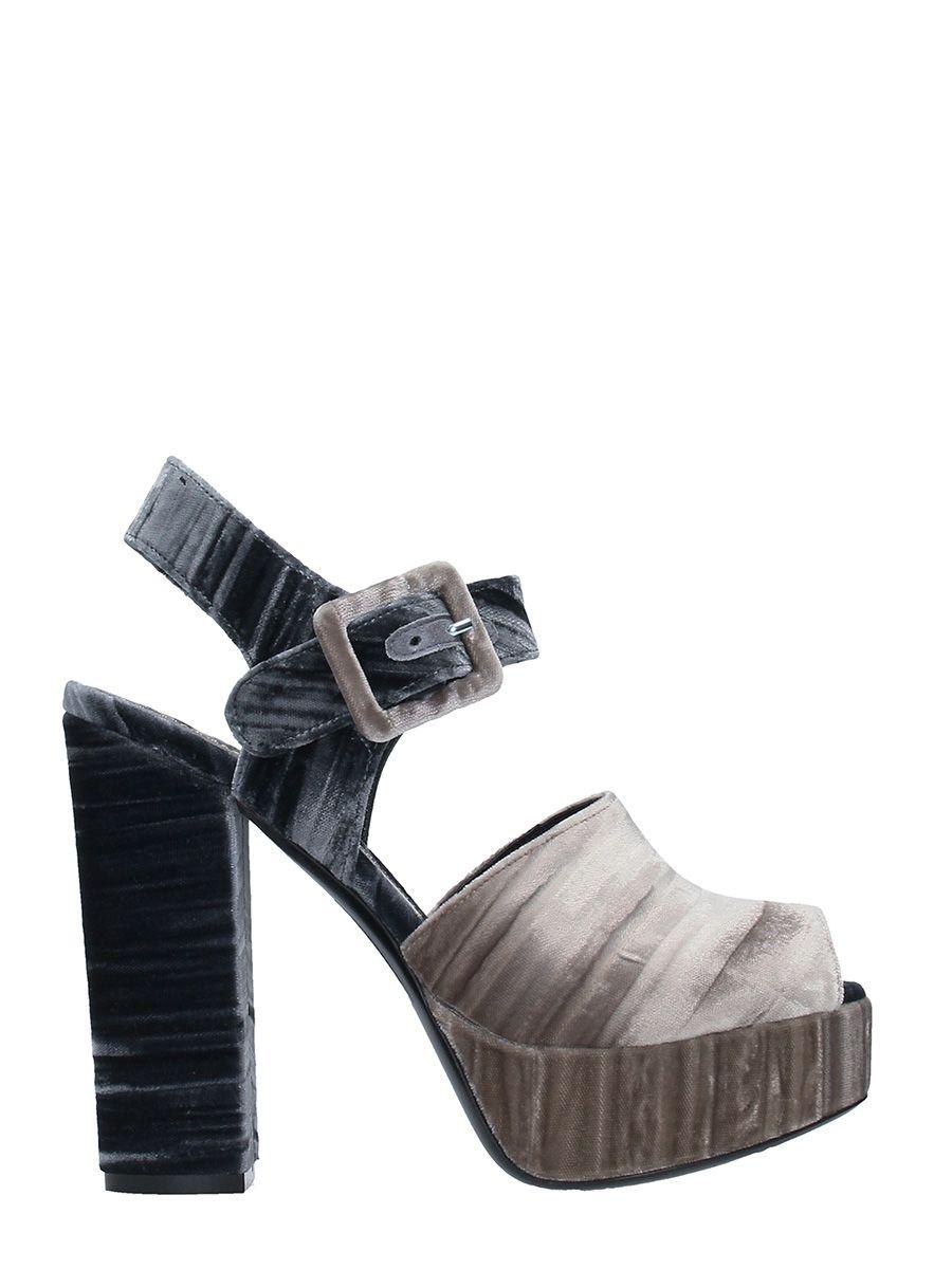 Dei Mille Platform Velvet Sandals