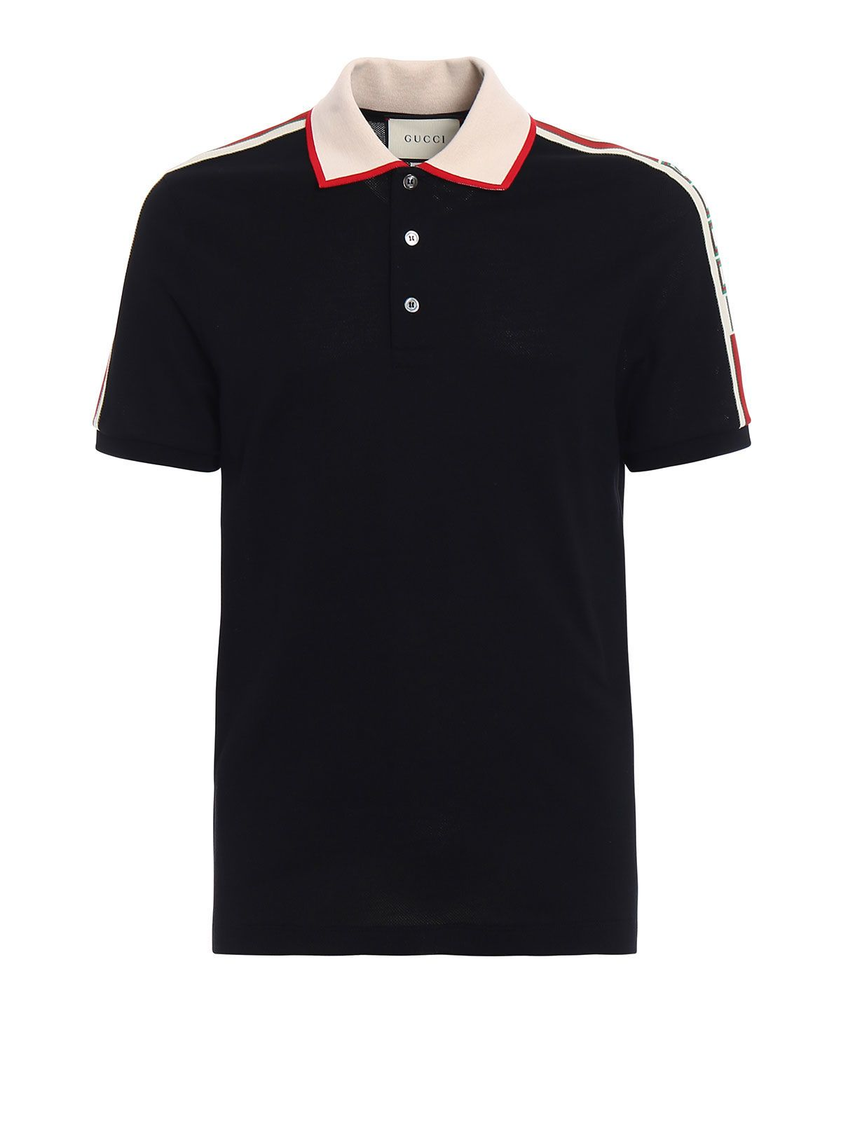 Gucci Stretch Cotton Piquet Polo Web