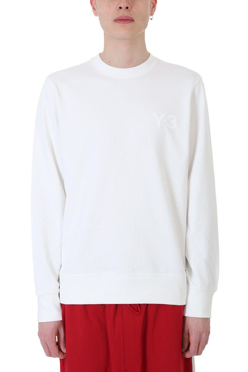 Y-3 White Cotton Sweatshirt
