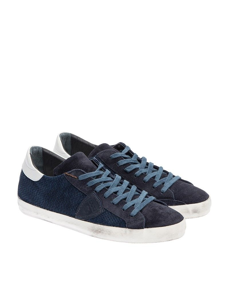 philippe model philippe model sneaker suede blue men. Black Bedroom Furniture Sets. Home Design Ideas