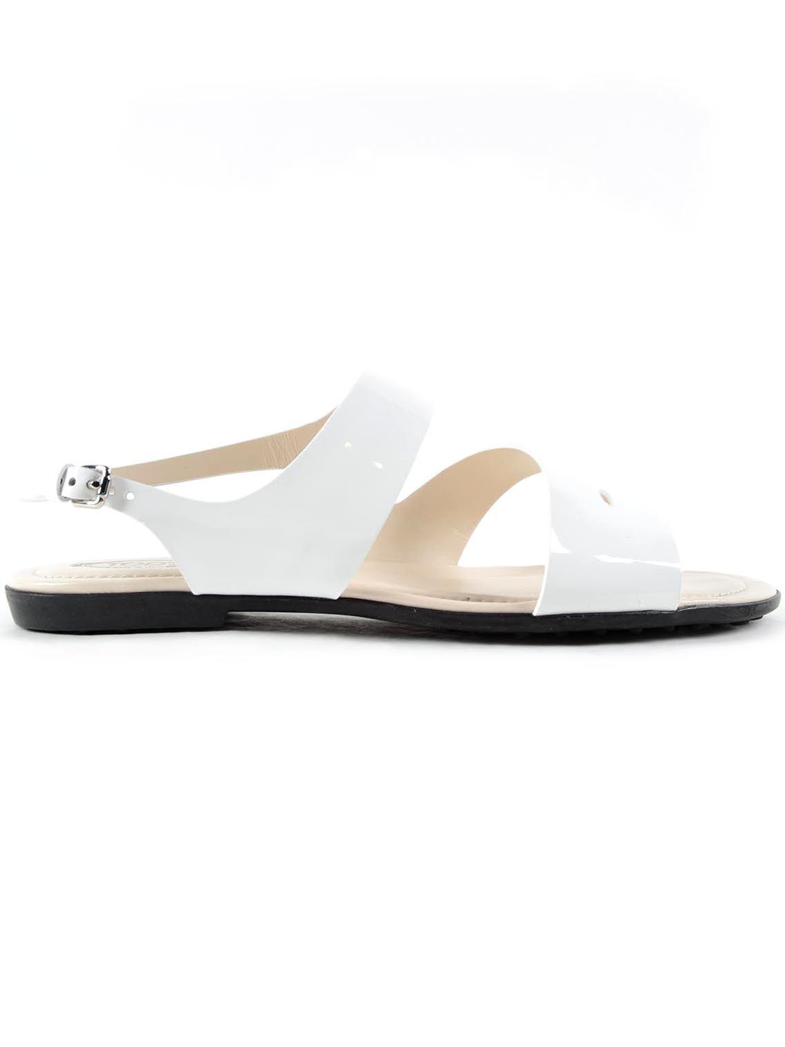 Tods Varnished Flat Sandals