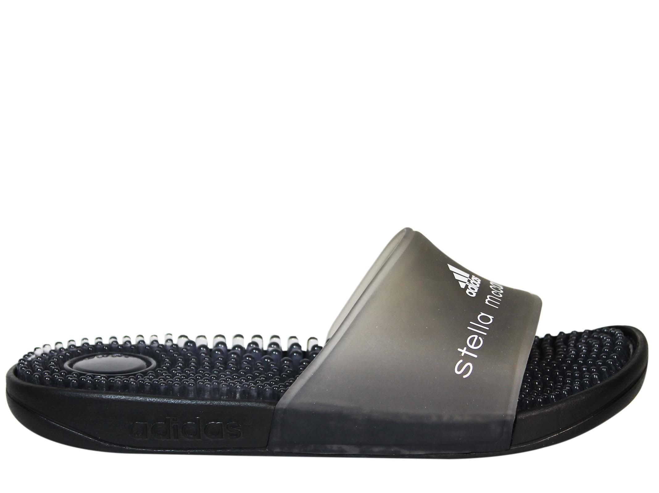Adidas by Stella McCartney Black Adissage Sliders