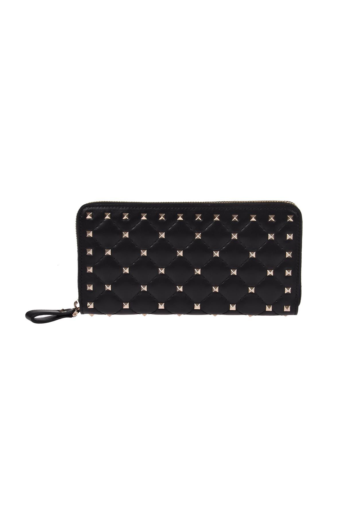 Valentino Garavani Rockstud Spikes Zip Around Wallet
