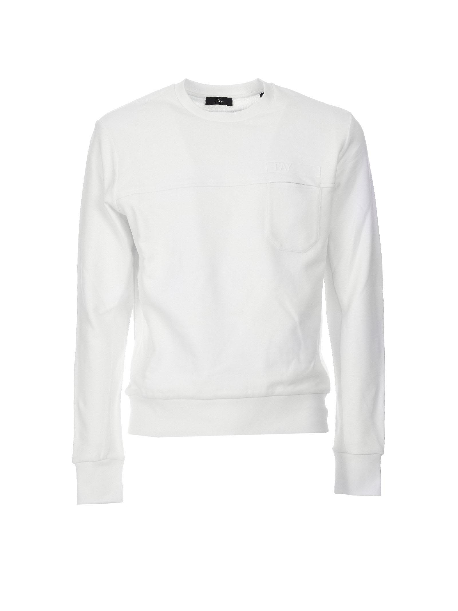 Fay White Crew-neck Jumper
