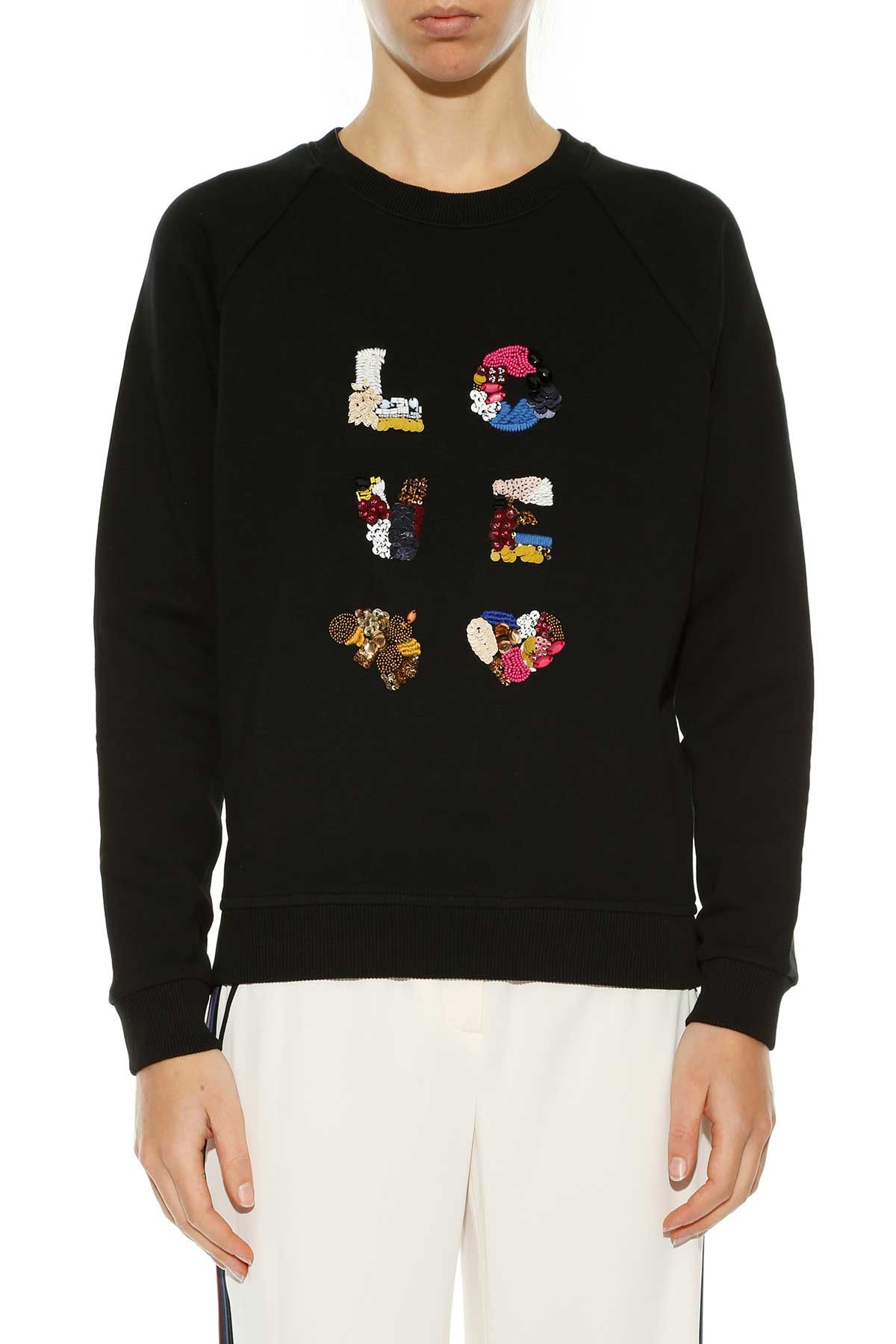 Tory Burch Love Embroidered Sweatshirt