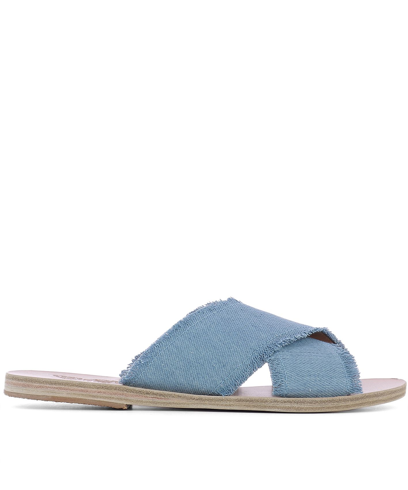 Light Blue Fabric Sandals