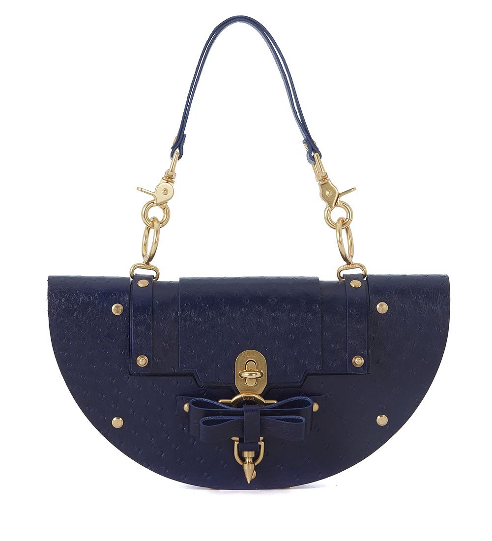 Niels Peeraer Bow Buckle Eclipse Small Blue Leather Bag