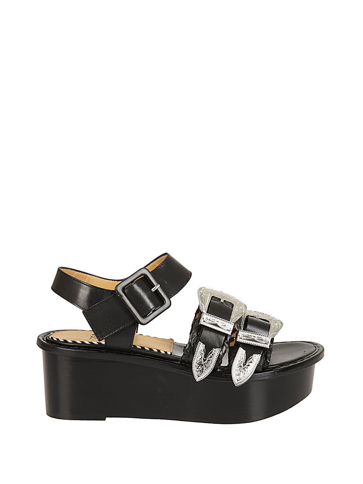 Toga Pulla Buckled Platform Sandals
