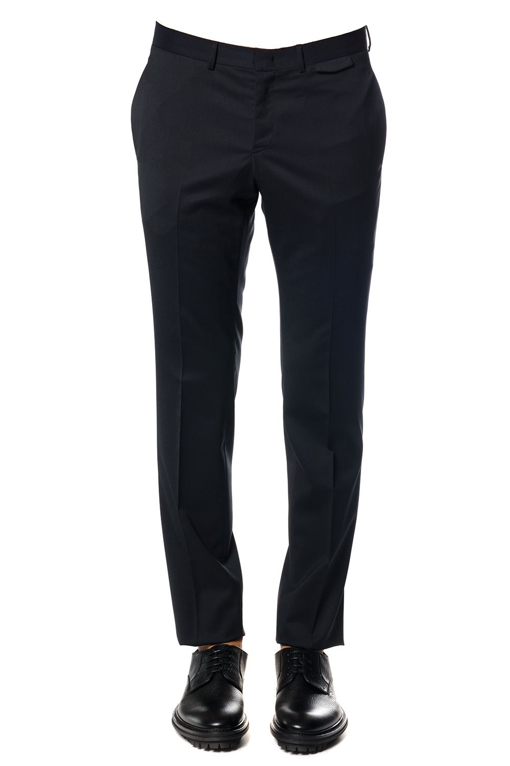 Z Zegna Narrow Wool Blend Trousers