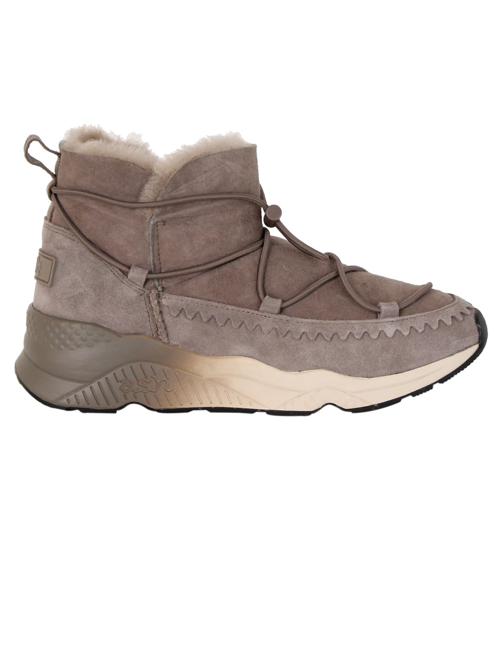 Ash Taupe Mitsouko Shearling Boots