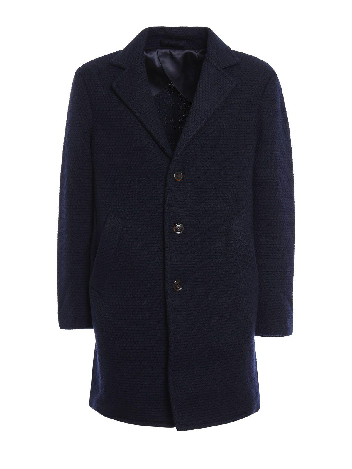 Lardini Basket Weave Wool Knitted Coat