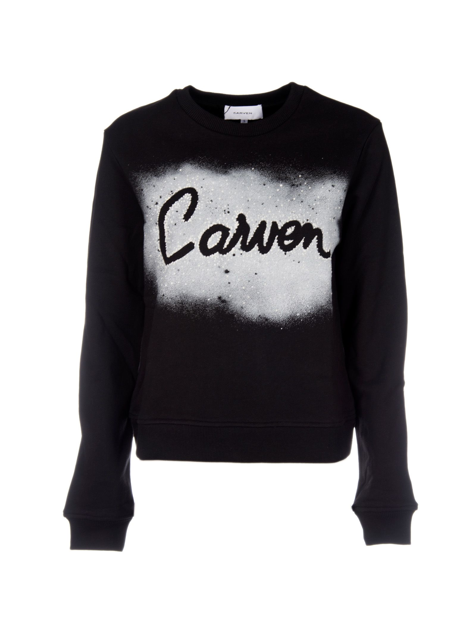 Carven Spray Print Logo Sweatshirt