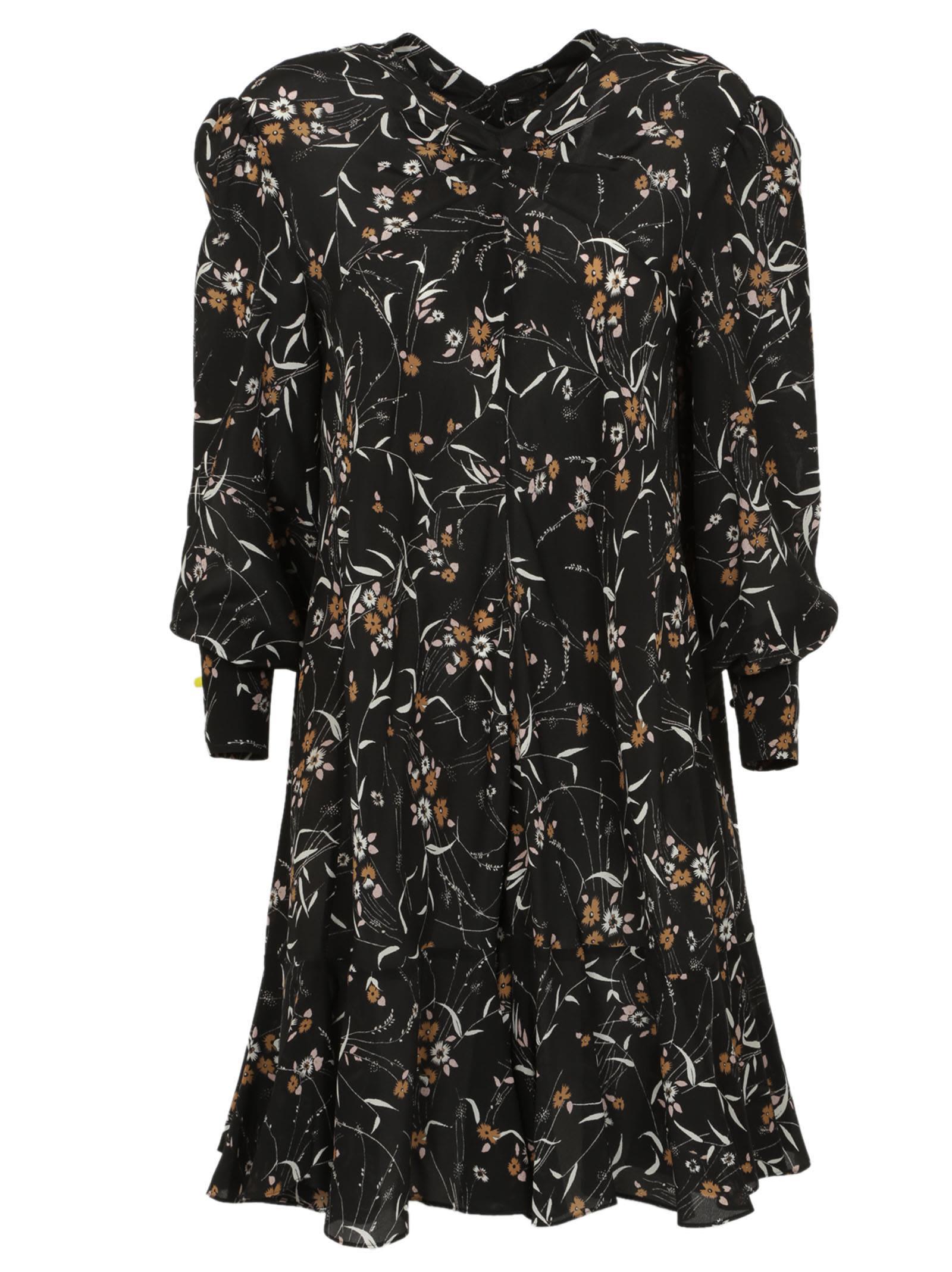 Isabel marant isabel marant floral sandra dress black for Isabel marant shirt dress