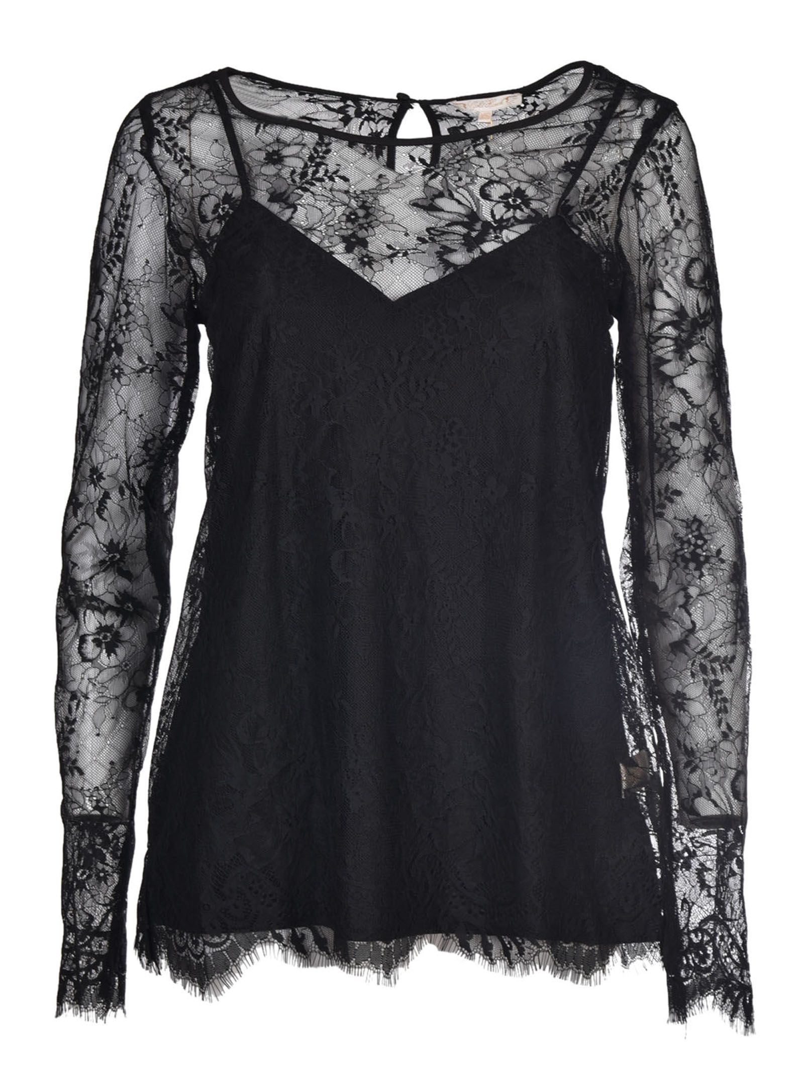 Gold Hawk Lace Detailing Blouse
