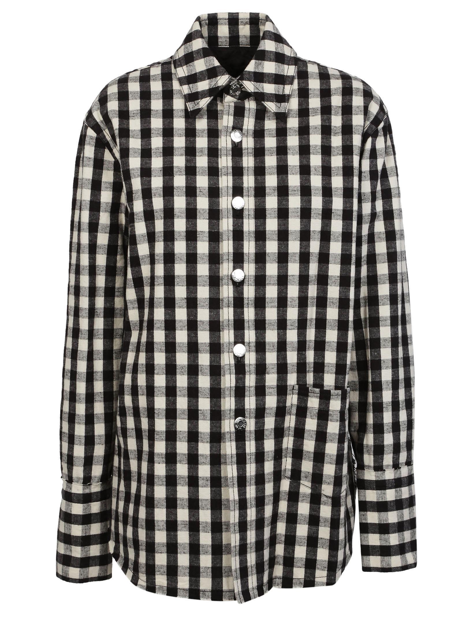 Helmut Lang Oversized Gingham Shirt