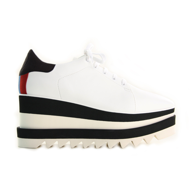 Elyse Stripes Shoes Stella Mccartney White