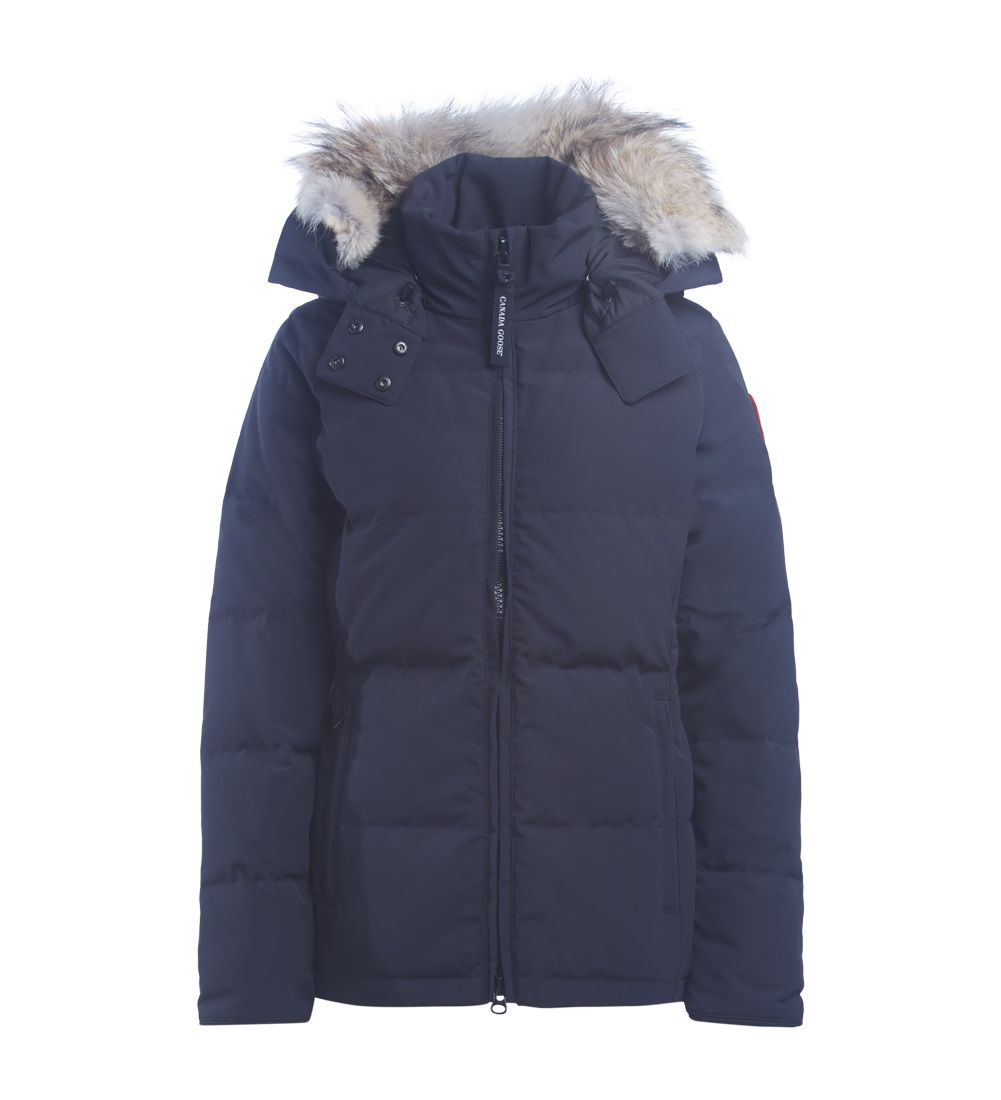 Canada Goose Chelsea Blue Parka With Hood