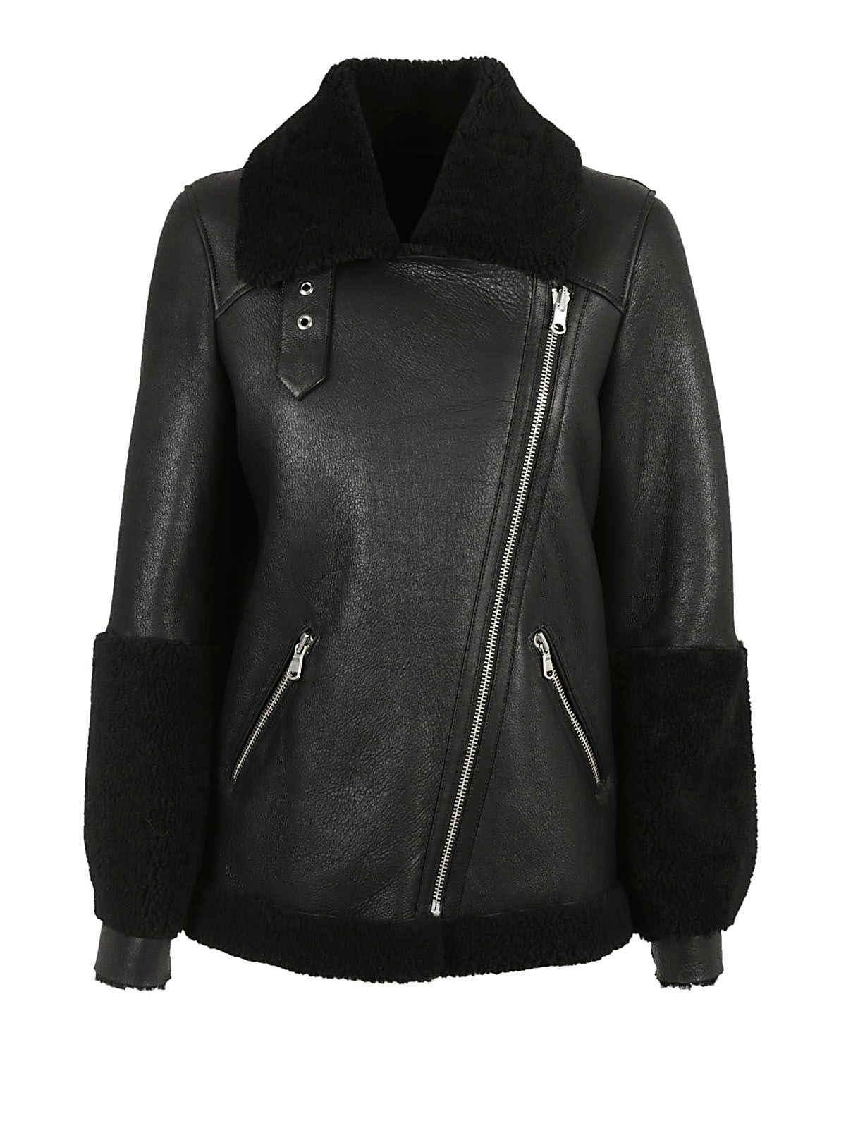 Federica Tosi Shearling Lined Leather Jacket