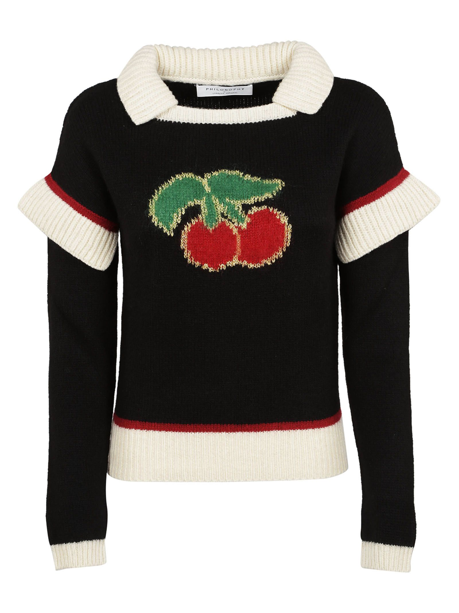 Philosophy Di Lorenzo Serafini Cherry Embroidered Sweater