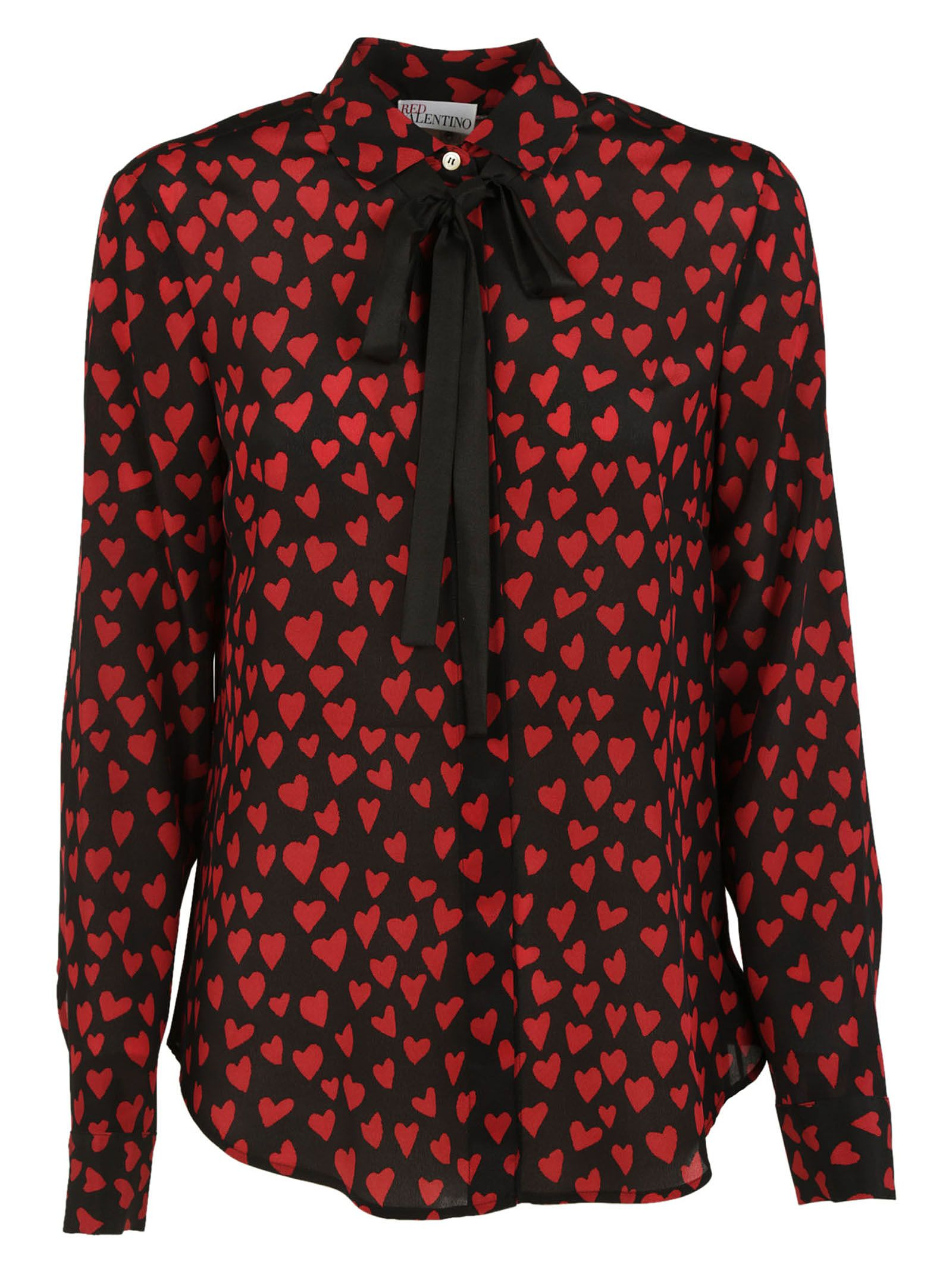 Red Valentino Heart Embroidered Blouse