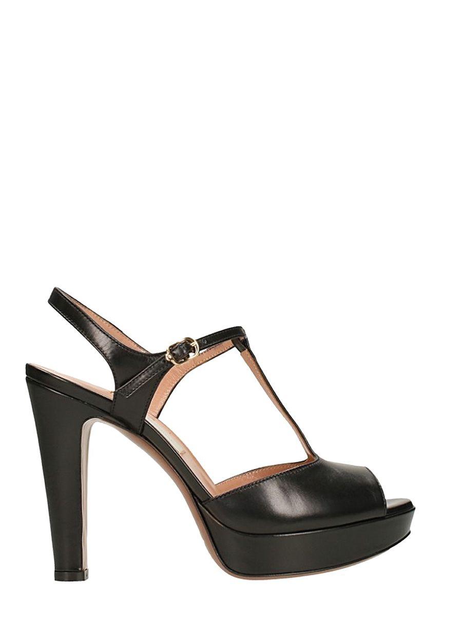 LAutre Chose Plateau Black Sandals