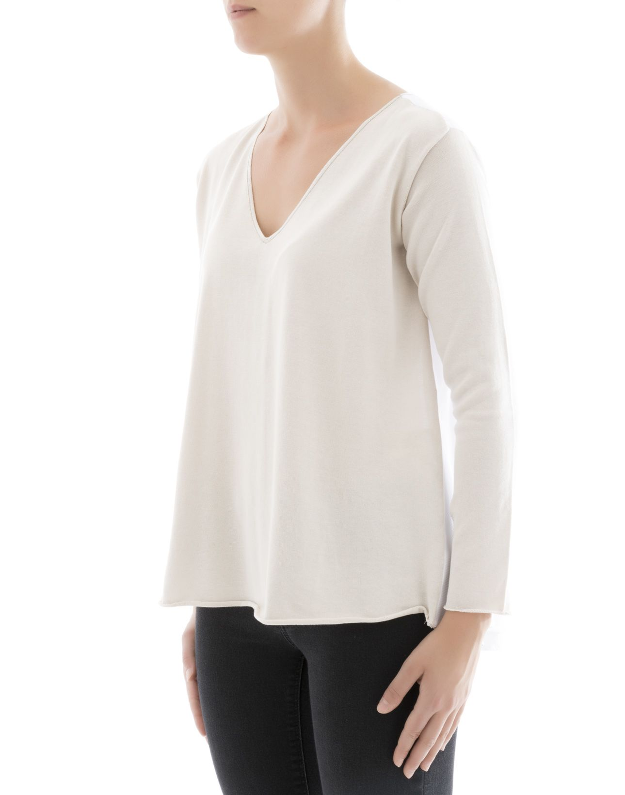 Fabiana Filippi - Beige Cotton Sweater - Beige, Women's Sweaters ...