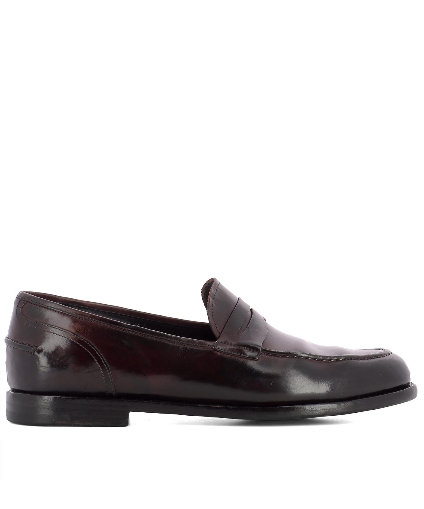 Bordeaux Leather Loafers