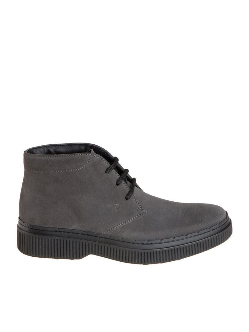 Tods Stamped Logo Lace-Up Boots