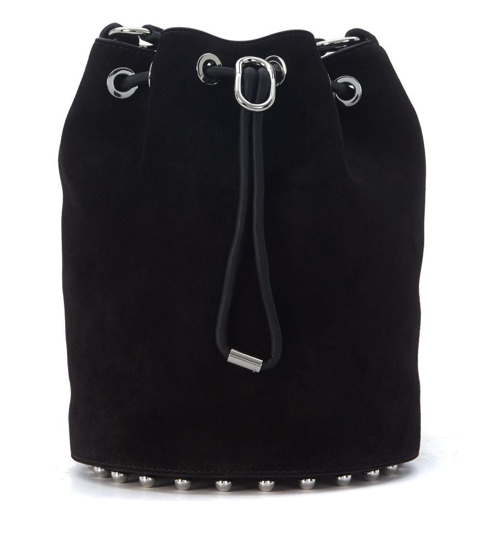 Alexander Wang Alpha Black Suede Bucket Bag