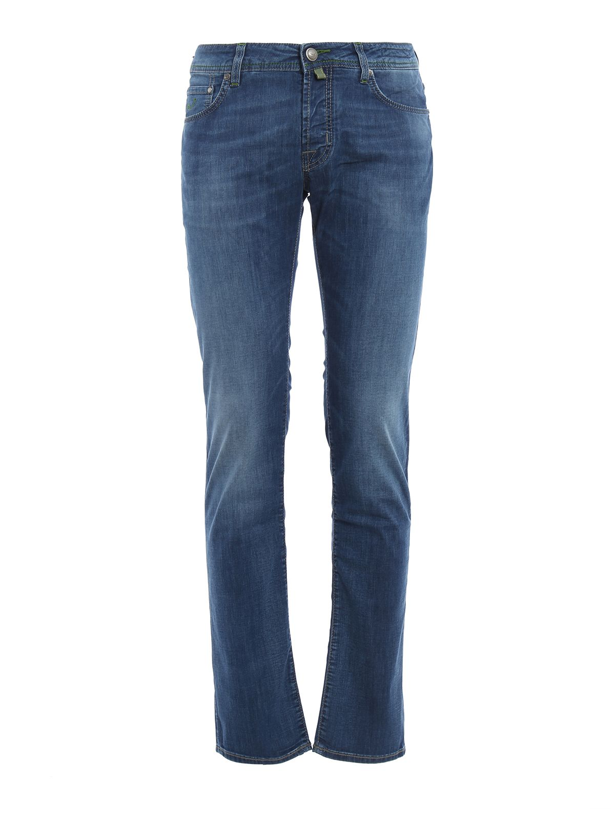 Pw622 Green Stitches Denim Jeans