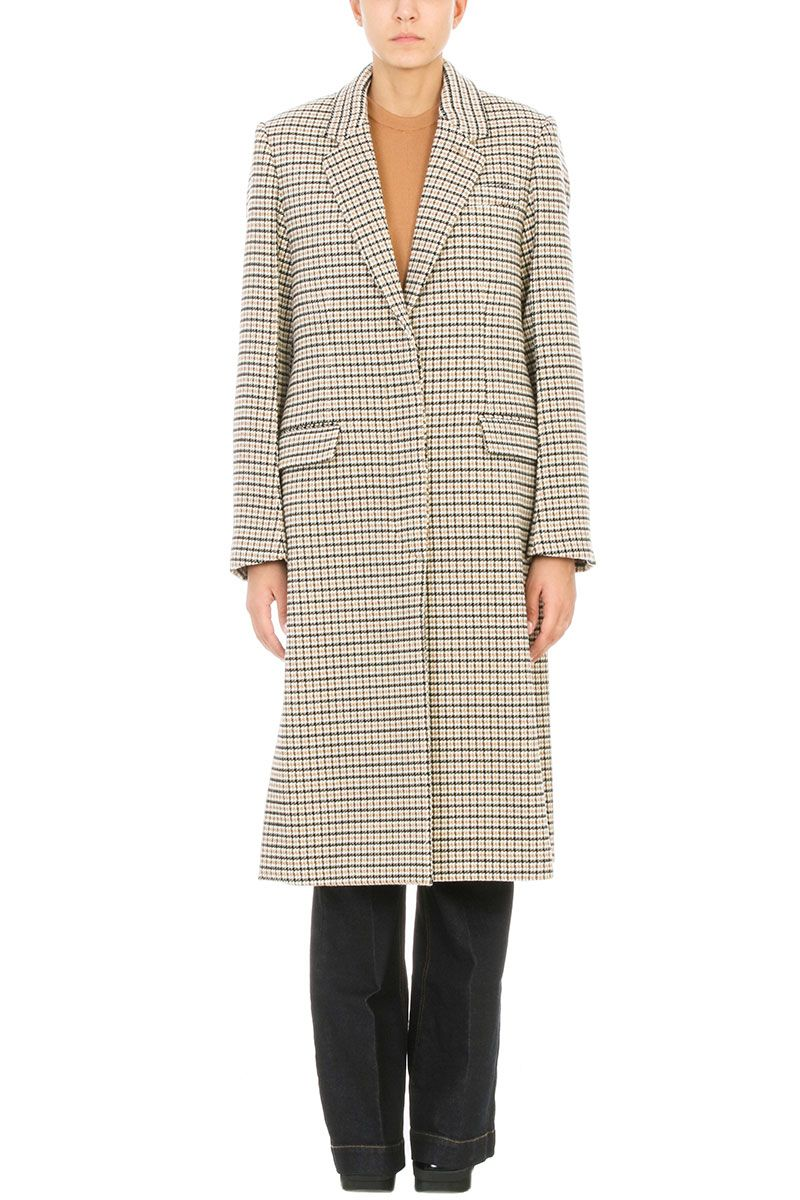 Stella McCartney Brown Wool And Cotton Blend Harper Coat