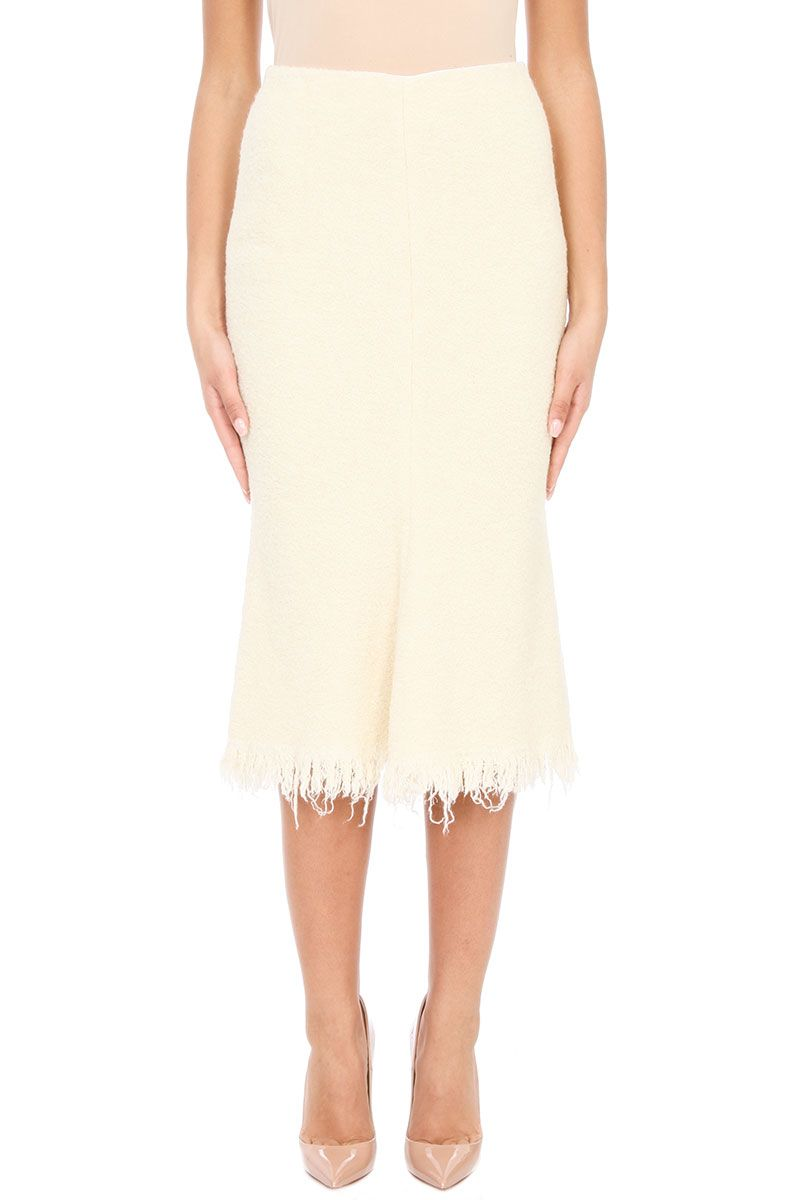 Victoria Beckham Wool And Cotton Skirt
