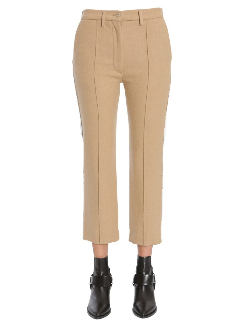 Really Mm6 Maison Margiela contrast panel cropped trousers Sale Supply OKPbl6