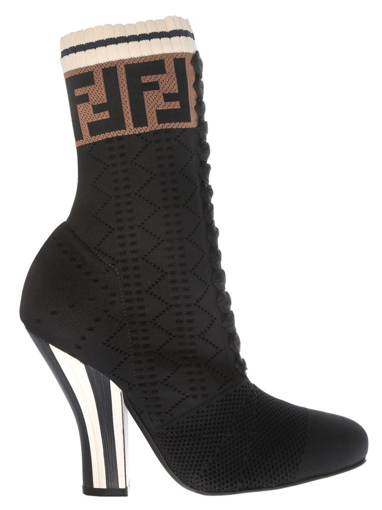 LACE-UP PERFORATED BOOTS