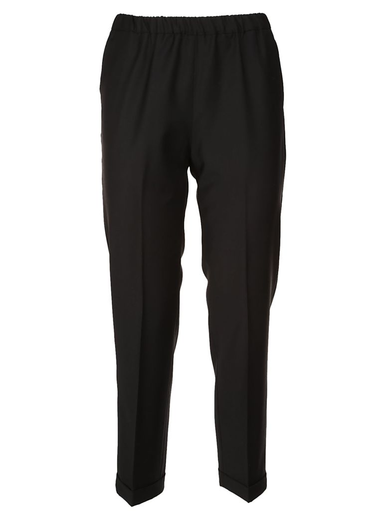 QL2 Quelledue Cropped Trousers in Black