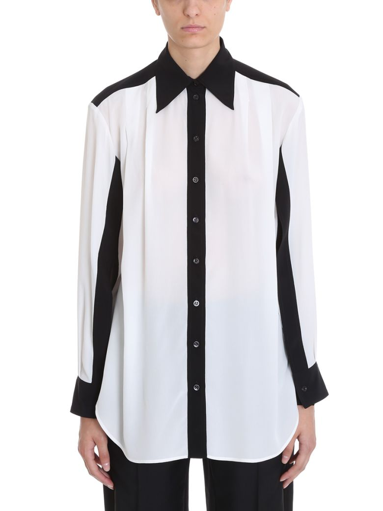 Givenchy Silks BLACK AND OFF-WHITE CREPE DE CHINE SHIRT