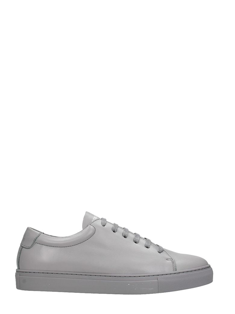 NATIONAL STANDARD EDITION 3 GREY LEATHER SNEAKERS