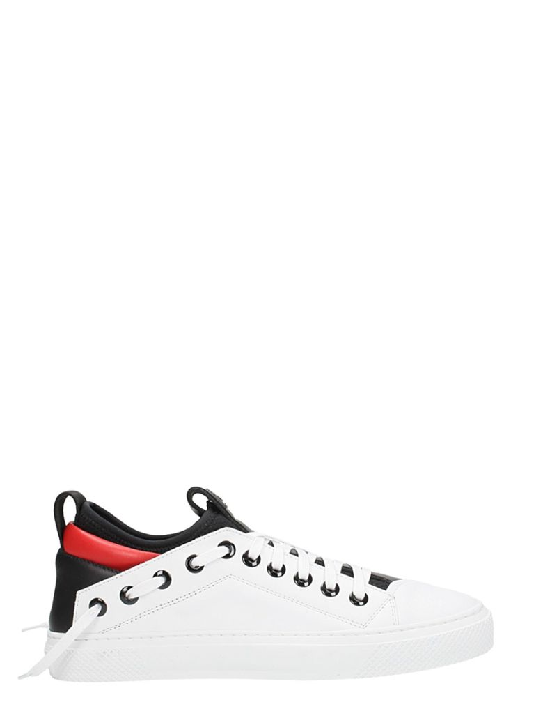 BRUNO BORDESE TRANGULAR SNEAKERS IN WHITE LEATHER