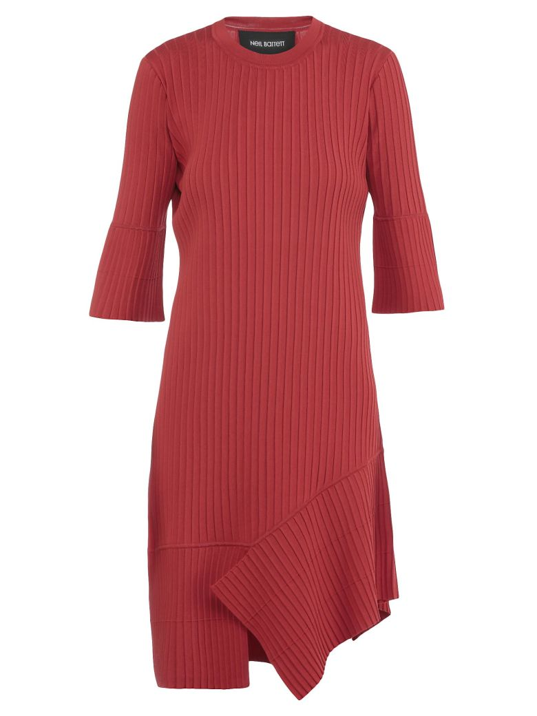 Ribbed Dress, Red