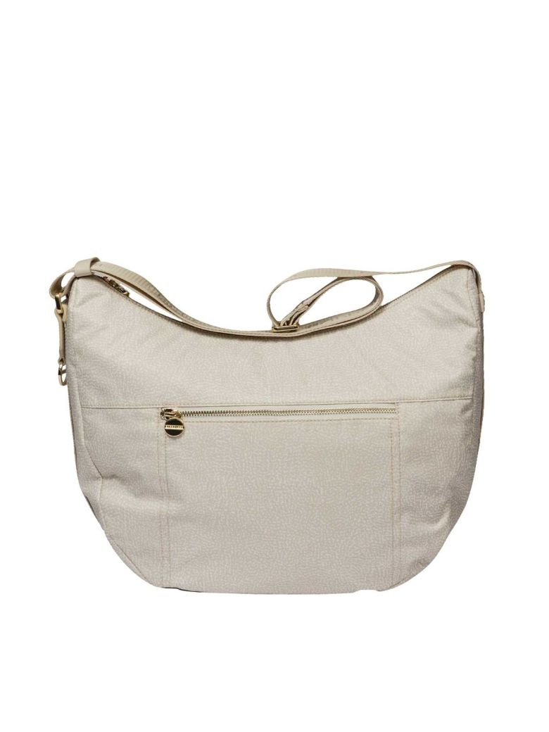 Borbonese White medium Luna bag FnCLvU8