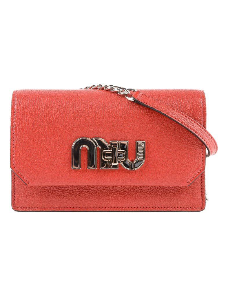 79180e33299 Miu Miu Madras Shoulder Bag In 27W Fuoco 1   ModeSens