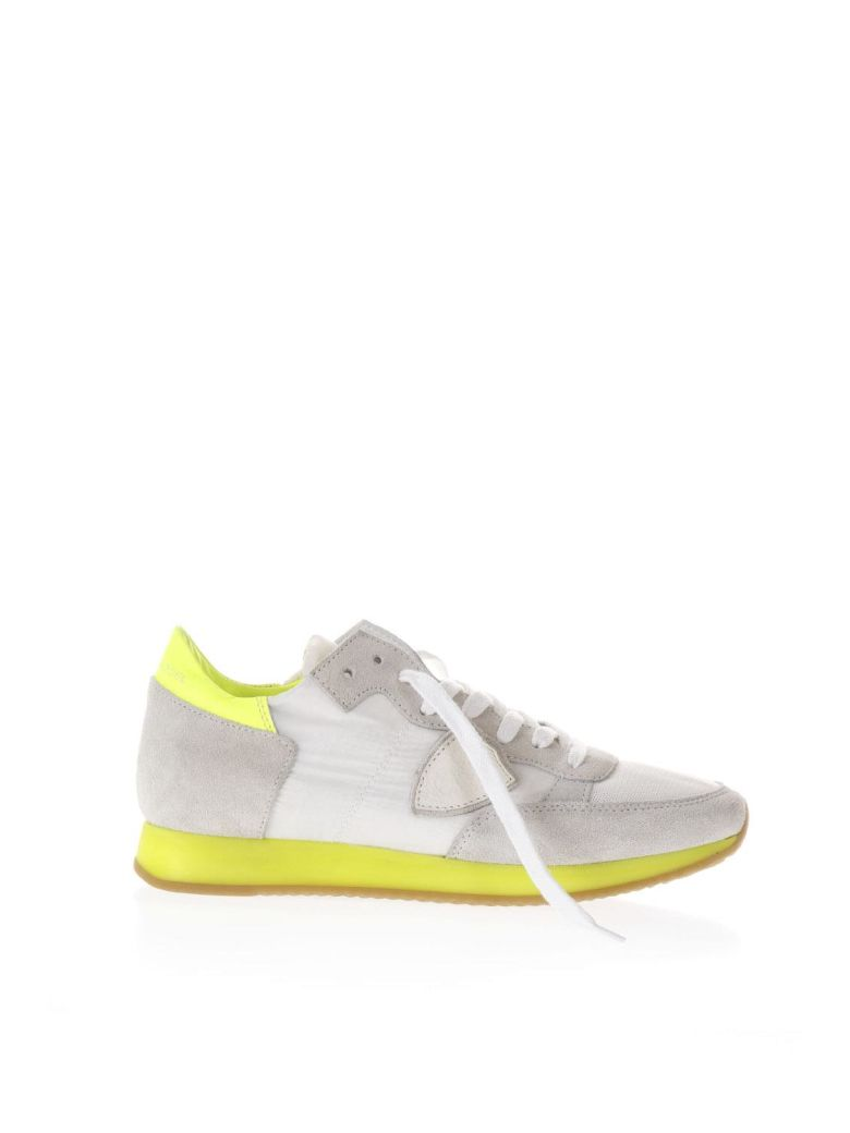 GREY AND YELLOW SUEDE AND NYLON TROPEZ SNEAKERS