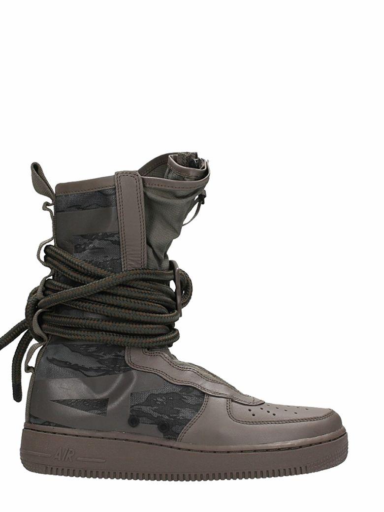Nike Af1 Zapatillas De Cuero Sf Af1 Nike De Barro Taupe Modesens cd471b