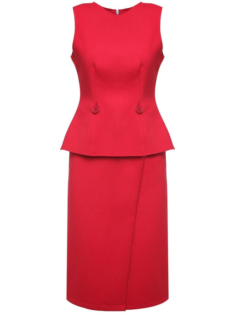 Two-Piece Wool-Blend Suit, Rosso