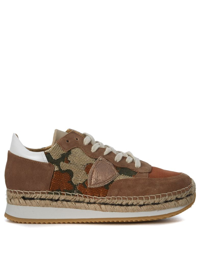 SAINT TROPEZ BICOLOR FABRIC AND SUEDE SNEAKER