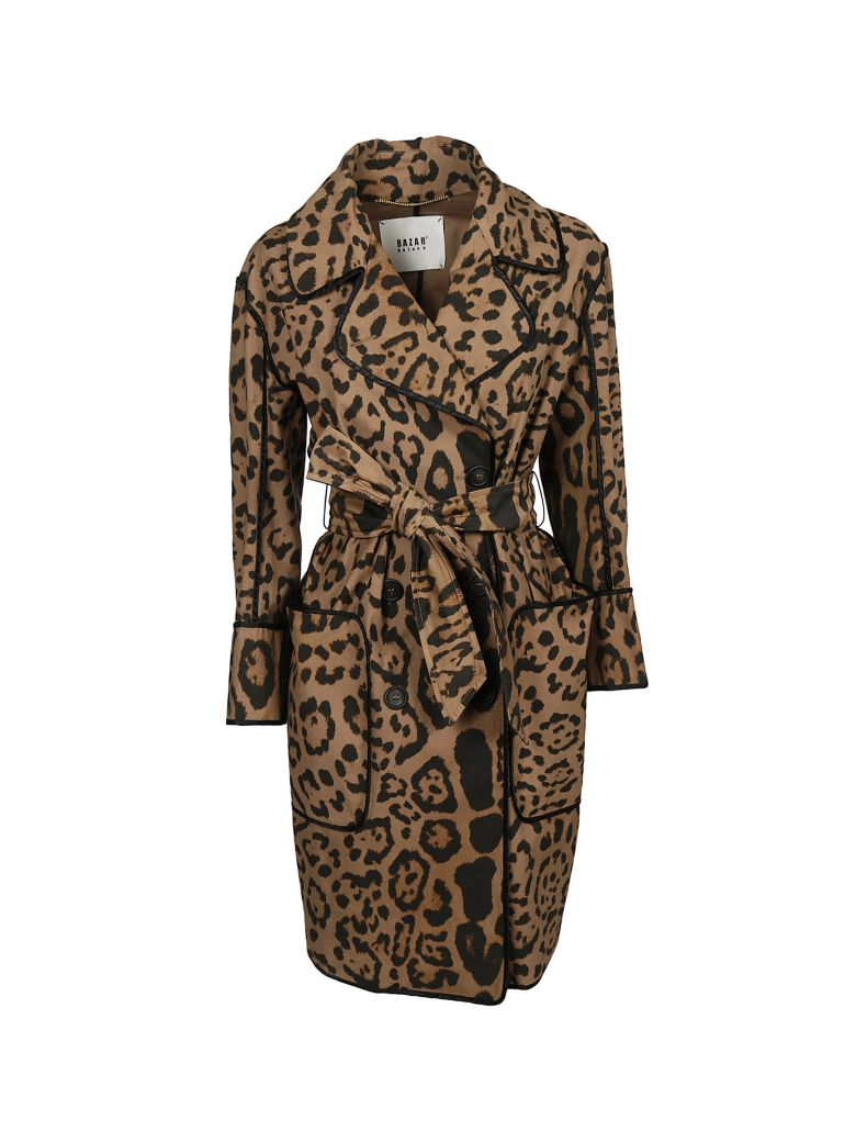 LEOPARD DOUBLE BREASTED COAT