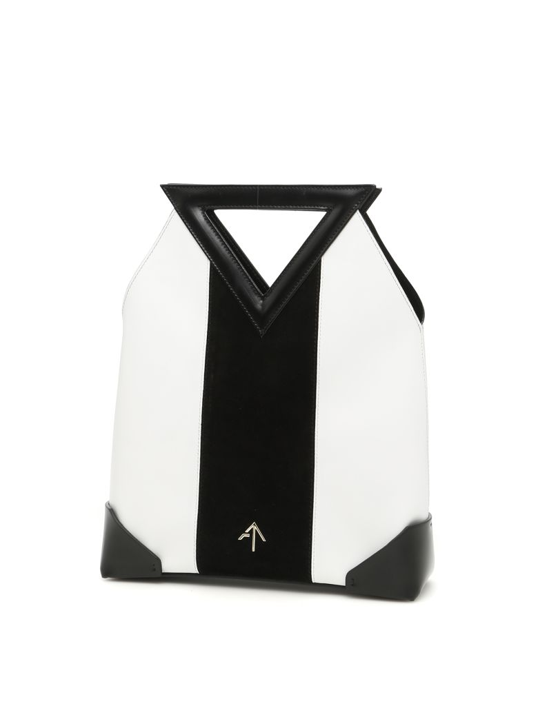 Triangle North Tote Bag in Black White|Nero