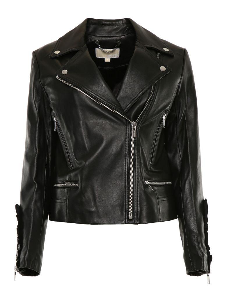 MICHAEL Michael Kors Leather Biker Jacket - BLACK|Nero