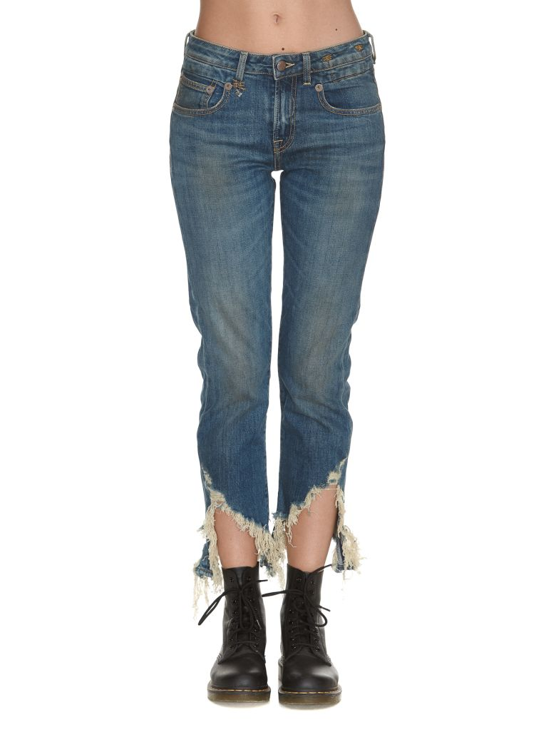 BOY STRAIGHT WITH FRAY HEM JEANS